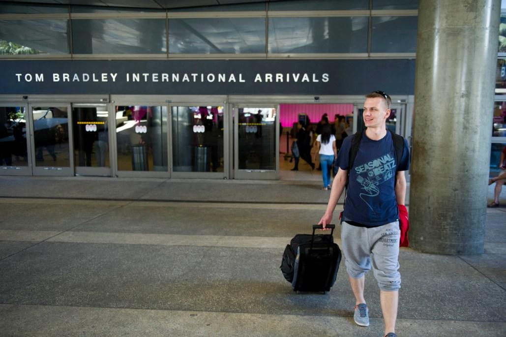 Illustrator winner Daniel Tyka, arriving in sunny Los Angeles, California from Warsaw, Poland