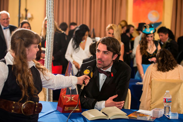 Gold Award winner Matt Dovey interviewed at the reception.