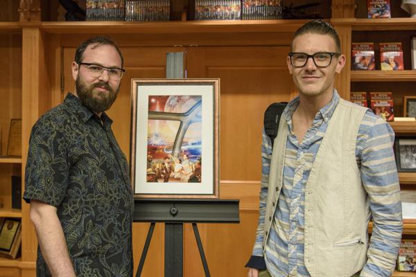 Writer Jon Lasser with illustrator Killian McKeown.