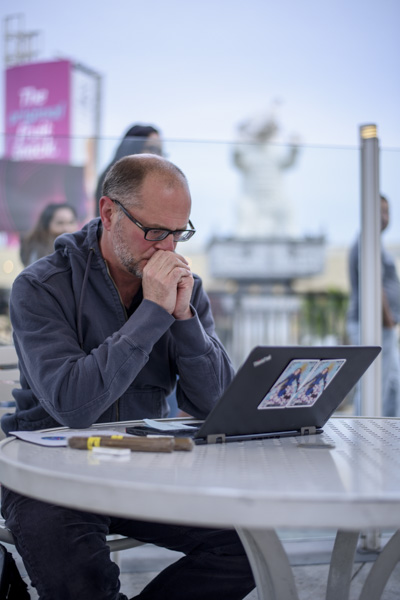 A laptop, two cigars, a very nice space and Stephen Merlino has what it takes for his 24 hour story.