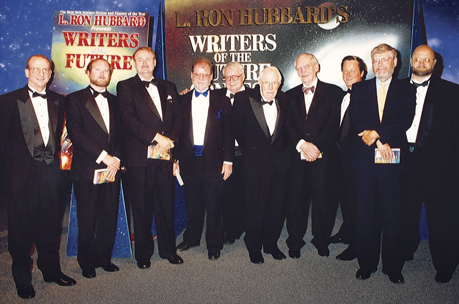 Judges at the 1996 Writers of the Future Awards ceremony at Johnson Space Center in Houston, Texas.
