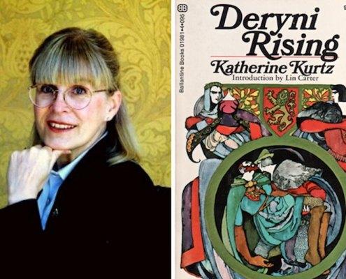 Katherine Kurtz with her bestselling Deryni Rising