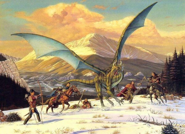 Mountain Conflict by Larry Elmore