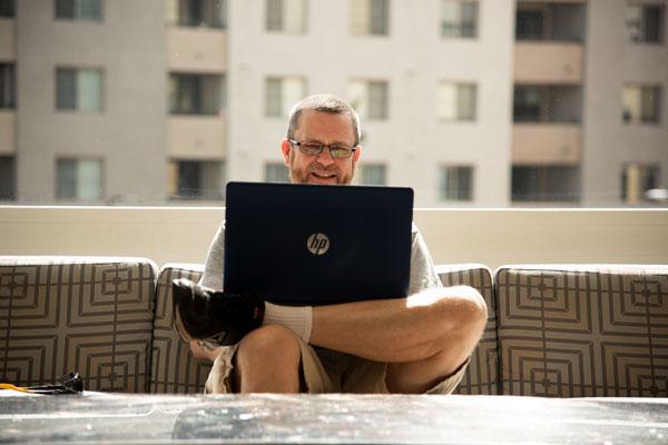 John writing his 24-hour story