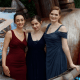 Writer winners Elise Stephens, Carrie Callahan, Mica Scotti Cole at Writers of the Future Awards ceremony