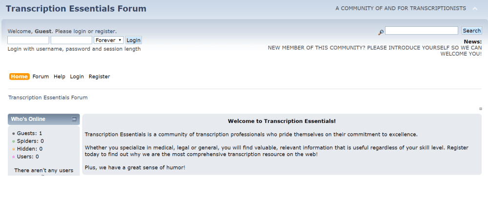 Transcription Forums