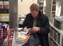 Lee Child signing books on tour.