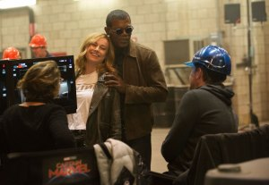 Brie Larson and Sam Jackson, a comedy duo.