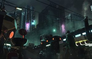 Everyday Life of Cyberpunk Cities (1), by Niklas Nebelsieck