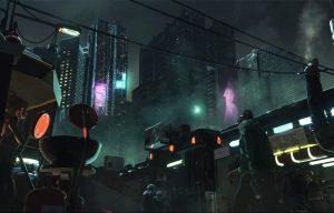 Everyday Life of Cyberpunk Cities (1), by Niklas Nebelsieck