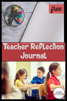 teacher reflection journal