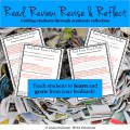 messy papers behind student reflection sheets