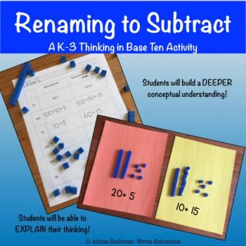 base ten blocks on student worksheets