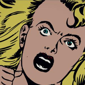 angry comic book woman