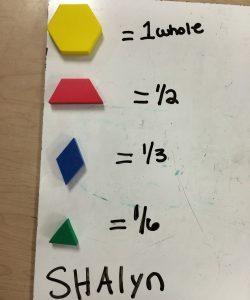 Math manipulatives Fractional Parts