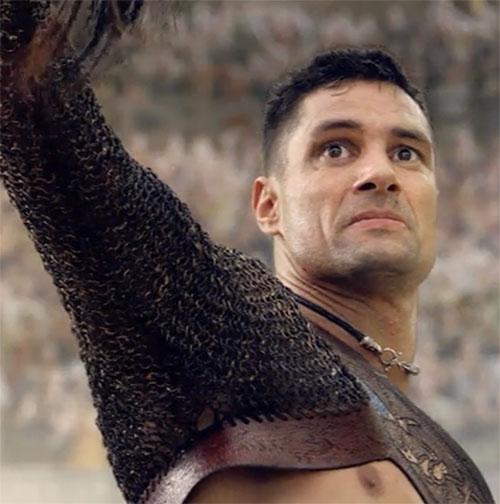 Crixus Spartacus Manu Bennett Gaul Gladiator
