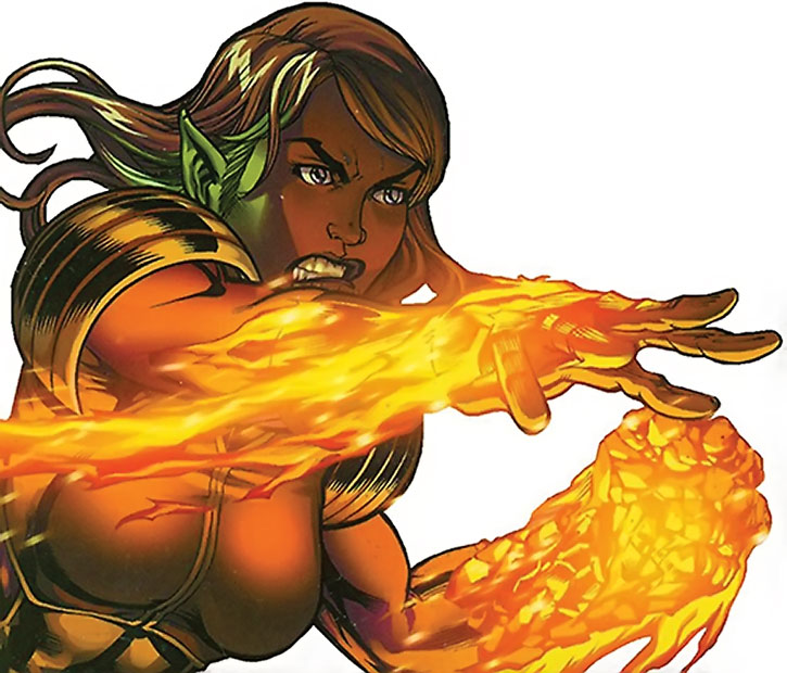 Xavin flaming on