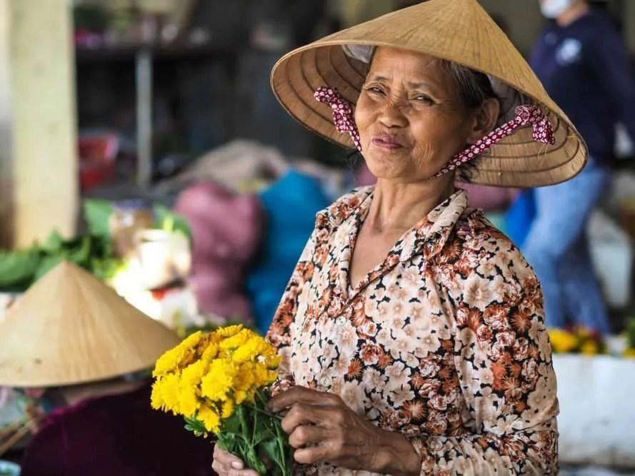 Flower Lady, Hoi An, Viernam