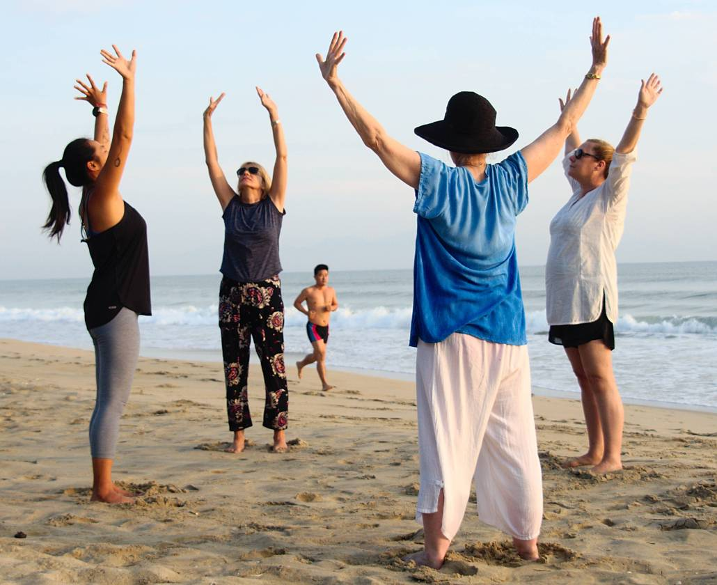 Writing and Yoga Retreat Vietnam - Sunrise Yoga Practice at the Beach in Hoi An