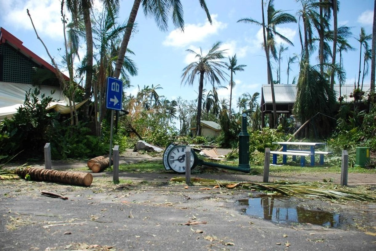 Writing about fear, image of category 5 cyclone Yasi, which hit Mission Beach in 2010