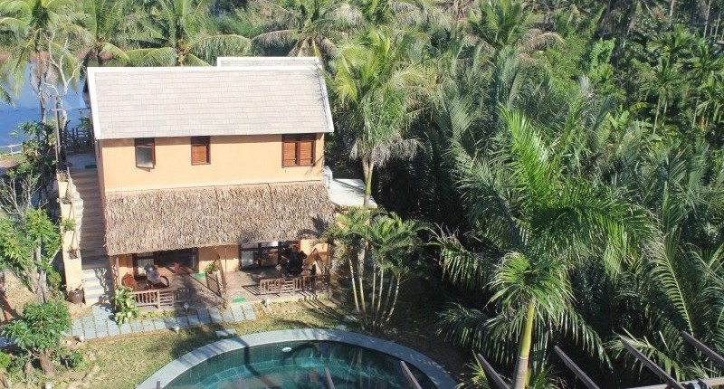 Meditation Retreat Vietnam - Write Your Journey: An Villa Boutique Resort Hoi An, Satellite View of one of the villas in between Mangroves