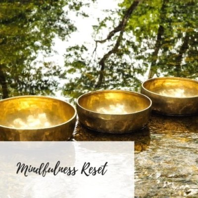 Write Your Journey | Singing Bowl in a Forest Image | Mindfulness Reset Meditation