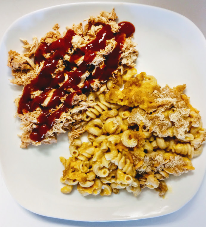 Secret Ingredient Healthy Macaroni and Cheese & BBQ Chicken