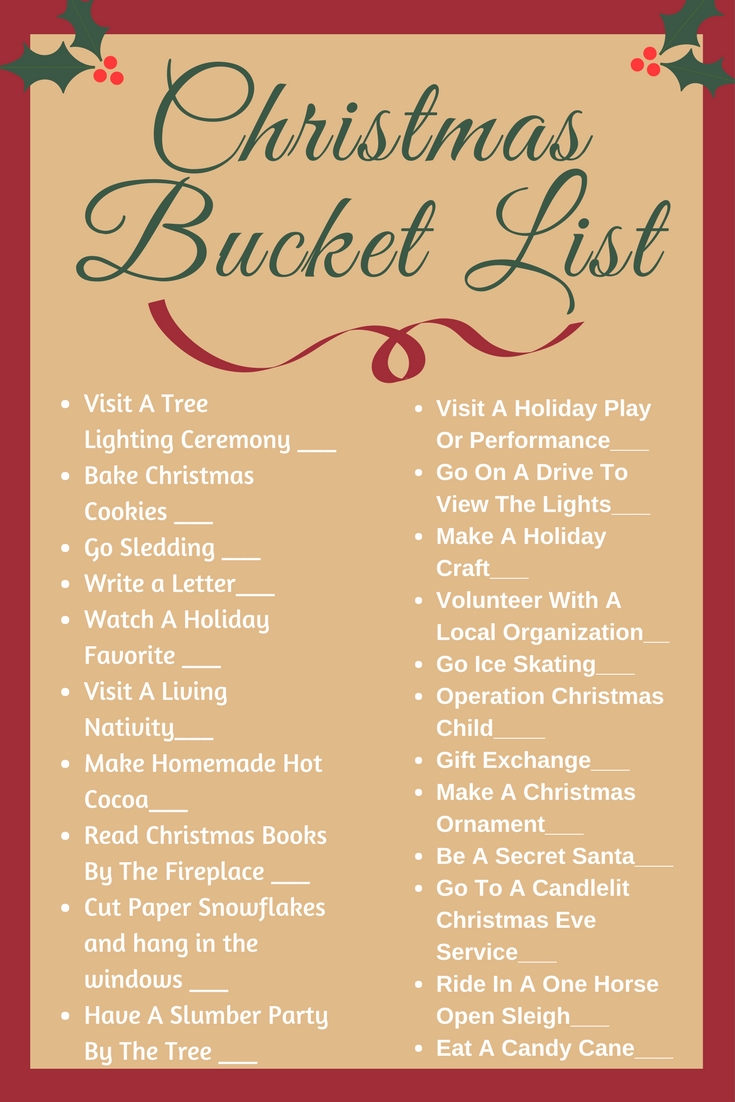 MustDo Activities To Check Off Your Christmas Bucket List