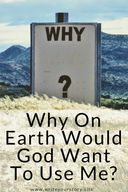"Do you ever question your worth in God's eyes? Do you have a desire to serve the Lord but feel inadequate? Let's take a look at what God has to say about that as we answer the question, ""Why On Earth Would God Want To Use Me?"""