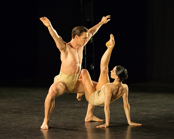 Max Westwell and Tamara Rojo in Jiří Kylián's Petite Mort (photo © ASH)