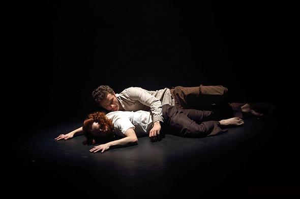 Miranda MacLetten and Daniel Whiley in John Ross's Blink (photo: Chris Jackson)