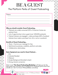 Be A Guest printable worksheet