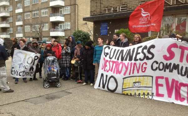 Down at the Occupation of Guinness Trust's Loughborough Park Estate