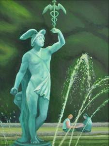 Messenger of the Gods, painting by Sarah V Penrose