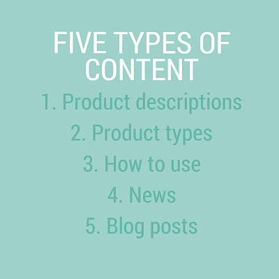 Five types of Content