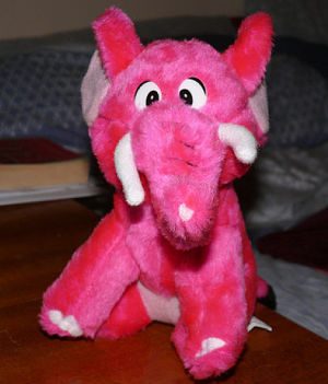 Pink Fluffy Elephant