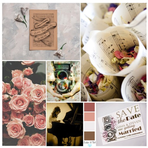Vintage Roses Camera Moodboard From Satin and Tat