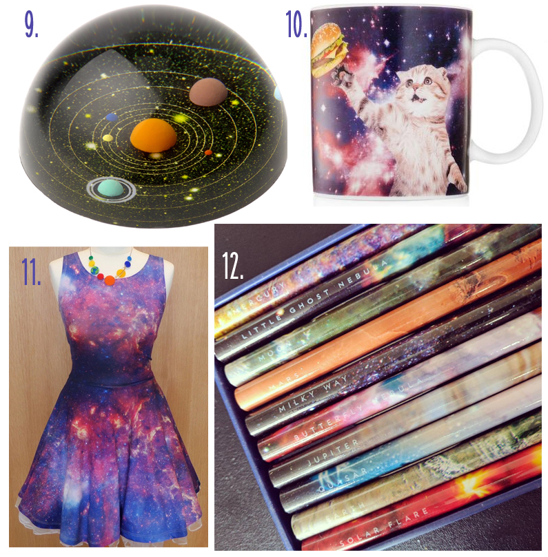 Space Themed Dress Planetarium Space Pencils NASA Space Cat Mug CyberDog