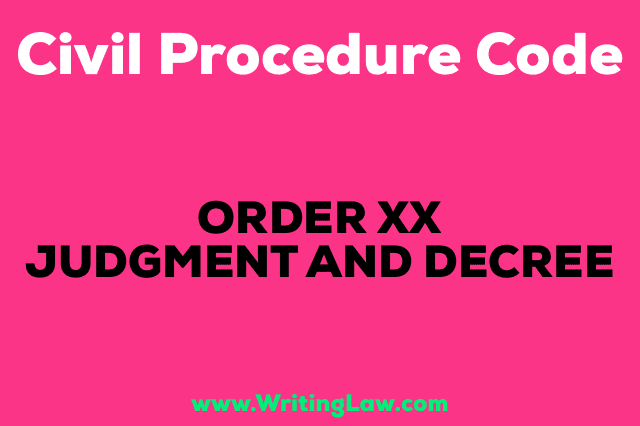 JUDGMENT AND DECREE