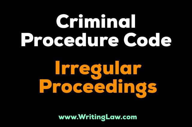 irregular proceedings CrPC