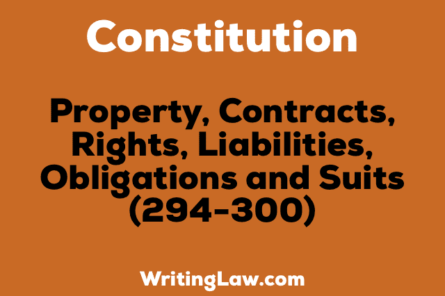 PROPERTY, CONTRACTS, RIGHTS, LIABILITIES, OBLIGATIONS AND SUITS