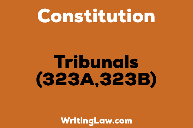 TRIBUNALS 323A