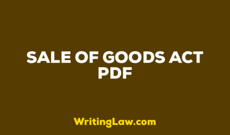 Sale of Goods Act PDF Download