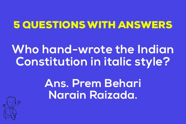 Handwritten Indian Constitution