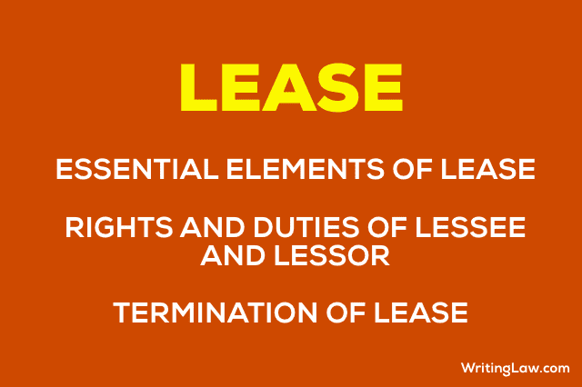 Lease, Essential Elements of Lease Notes