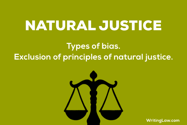 effect of breach of principles of natural justice