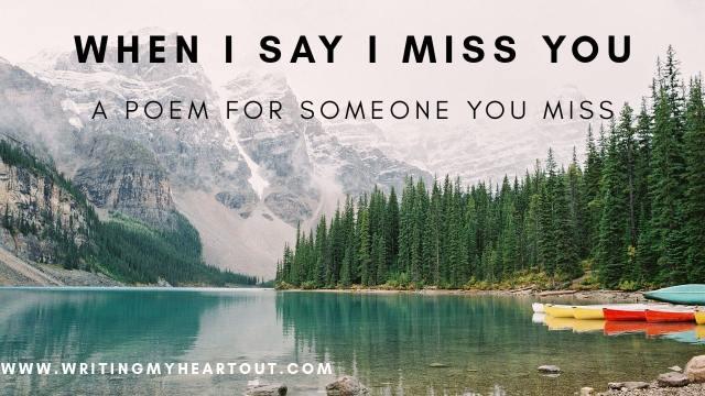 I Miss You Poem
