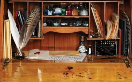writing desk writing place