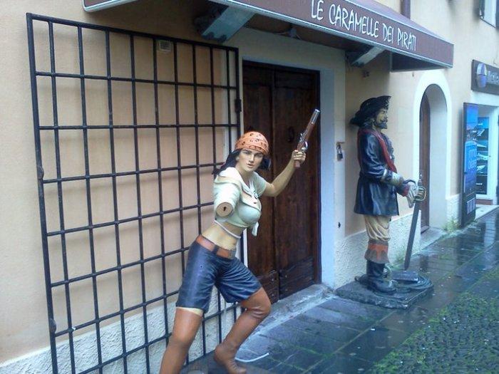 No pirates in Alghero in Sardinia these days