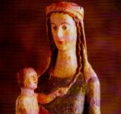 Our Lady of Clonfert is a bleeding statue from Ireland, found in a tree where it was hidden during a time in Ireland when zealots of the reformed faiths persecuted Catholics for their faith. It is an object of veneration in Ireland today.